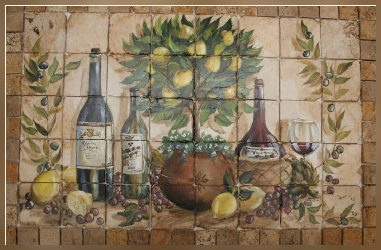 Lemon_Topiary_Tile_Mural_Horizontal_framed